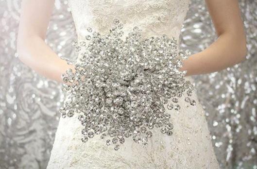 Ramo de novia de cristal